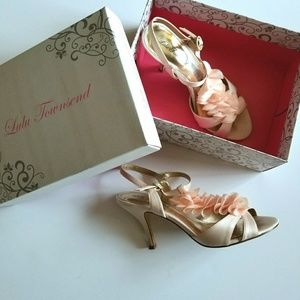 Lulu Townsend Pale Pink Occasion Heeled Sandal